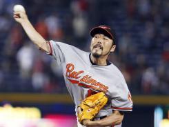 Baltimore Orioles relief pitcher Koji Uehara.