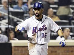 Angel Pagan celebrates his 10th-inning homer that capped the Mets' rally from a 4-0 deficit.