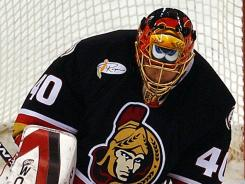 Patrick Lalime, known for his Marvin the Martian mask, is in the NHL record book three times.
