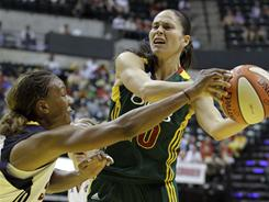 Seattle Storm guard Sue Bird, right, and Indiana Fever forward Tamika Catchings were the leading vote-getters for the 2011 WNBA All-Star Game.
