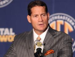 Auburn coach Gene Chizik was asked   about the NCAA investigation into his program during his SEC media day press conference.