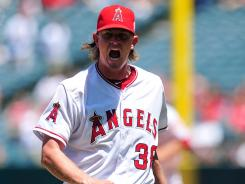 Los Angeles Angels starting pitcher Jered Weaver  has been brilliant so far, but his underlyting skills suggest he won't be able to keep up his remarkable pace.