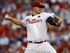 Phillies rookie Vance Worley threw a three-hit complete game for his fifth consecutive win.