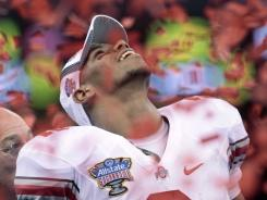 This moment celebrating a 31-26 win against Arkansas in the Sugar Bowl proved to be one of the last on a college field for Ohio State quarterback Terrelle Pryor.