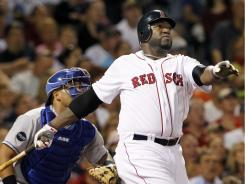 David Ortiz watches his grand slam leave the yard. Ortiz's blast helped the Red Sox win for the 19th time in 23 games.