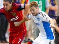 The San Jose Earthquakes' Bobby Convey,  here playing  against Real Salt Lake on Saturday, made the MLS All-Star team for the second consecutive year in 2011.