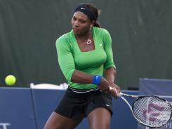 The United States' Serena Williams beat Australia's Anastasia Rodionova 6-0, 6-0 in the first round of the Bank of the West Classic in California on Tuesday.
