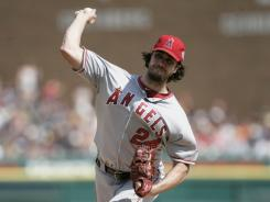 Dan Haren shut down the Tigers for the second time this month in the Angels' 5-1 win.