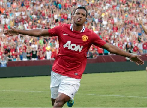 Nani put Manchester United on the board early with a 22nd minute goal
