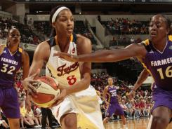 Tammy Sutton-Brown (8) and the Eastern Conference-leading Fever routed the Sparks for their fourth straight win.