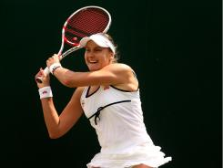 Nadia Petrova, shown  here playing at Wimbledon, beat Shahar Peer in the Citi Open final Sunday for her first title since 2008.