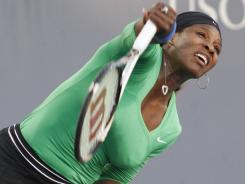 Serena Williams breezed past Sabine Lisicki to advance to her first final since Wimbledon last year.