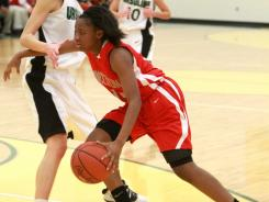 Kelsey Mitchell, seen here playing for Princeton High in January, was the only freshman on the Division I first-team All-Ohio squad.