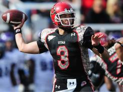 Quarterback Jordan Wynn and his Utah teammates have a difference of about $8,000 in costs from the scholarships they receive, the university estimates.
