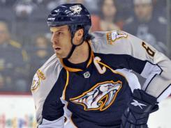 Shea Weber was named captain of the Predators this season.