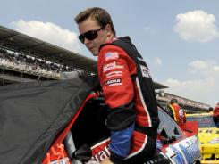 Trevor Bayne finished 30th in his first Brickyard 400 after being forced to pit late in the race for fuel.