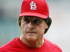 Cardinals manager Tony LaRussa wasn't happy after the Brewers crowd became hostile.