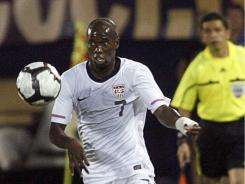 Midfielder DaMarcus Beasley, here during a 2010 Team USA victory against the Czech Republic, will remain with the team after being given a roster spot by new coach Jurgen Klinsmann.