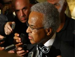 NBA players' union leader  Billy Hunter, shown June 30, said he doubts a labor deal will be made to salvage the upcoming season.