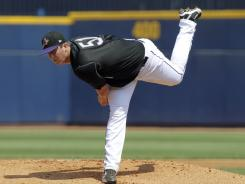 Pitcher Drew Pomeranz was a player to be named later from the Indians when they got Rockies' Ubaldo Jimenez.