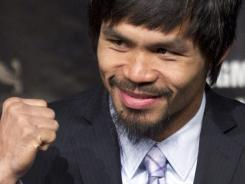 Manny Pacquiao is asking for a default ruling in his defamation suit against Floyd Mayweather Jr., seeking up to $10 million in damages.