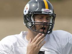 Steelers quarterback Ben Roethlisberger, here during an August workout, is accused of raping a casino hostess.