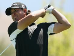 In search of his first PGA Tour victory, Scott Piercy tied both the longest birdie streak and lowest nine holes in relation to par posted this year on Saturday. Piercy leads after three rounds at the the 10th hole during the third round of the Reno-Tahoe Open at the Montreux Golf & Country Club in Reno, Nevada.