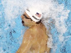 Garrett Weber-Gale won the men's 100-meter freestyle in Stanford, Calif., on Friday with a time of 48.87 seconds.