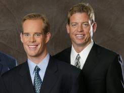 Fox's top announcing team of Joe Buck, left, and Troy Aikman will remain unchanged, but there will be several changes to the network's announcing teams this NFL season.