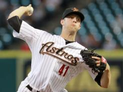 Houston Astros pitcher Jordan Lyles, 20, topped the preseason minor league prospects list. Lyles has gone 1-6 with a 4.36 ERA since being called up in late May.