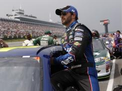 Jimmie Johnson took issue with how Kurt Busch passed him for third place in the closing laps of the Good Sam RV Insurance 500 Sunday at Pocono Raceway.