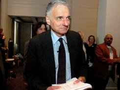 "Ralph Nader, shown here in 2008, says the Bowl Championship Series has ""antitrust issues."""