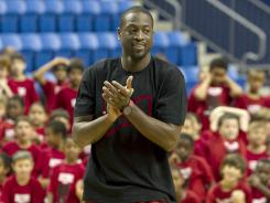 Dwyane Wade, at his All-Star basketball camp July 13, at Nova Southeastern University in Davie, Fla., has been keeping himself extremely busy since the Heat lost to the Mavericks in the 2011 NBA Finals.