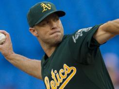 A's starting pitcher Rich Harden pitched seven innings Tuesday in Oakland's 4-1 win over the Blue Jays in Toronto.