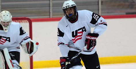 Seth Jones made the first cut for at the U.S. evaluation camp for the world juniors.