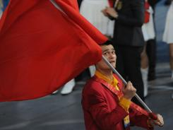 Basketball's ambassador:  Yao Ming, shown here in the Beijing Olympics, helped grow the NBA exponentially in China.