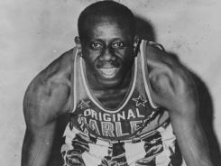 Goose Tatum combined showmanship and humor on the basketball court and played first base in the Negro Leagues.