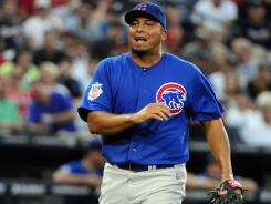 "Cubs GM Jim Hendry said Saturday that Carlos Zambrano's actions on Friday, including a brush-back pitch to the Braves' Chipper Jones, were ""intolerable."""