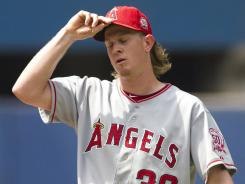 In his first start since his six-game suspension, Los Angeles Angels pitcher Jered Weaver allowed a season-high eight runs, including three homers, in his shortest outing of the year. The Angels fell to the Toronto Blue Jays 11-2.