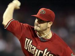 Diamondbacks starting pitcher Jason Marquis was hit in the shin by a line drive by the Mets' Angel Pagan in the third inning sunday. Marquis left the game in the 4th and was later diagnosed with a broken fibula. He will miss the rest of the year.