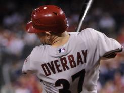 Lyle Overbay hit the go-ahead double to power the Diamondbacks past the Phillies on Tuesday.