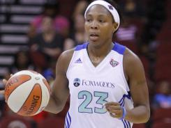 New York Liberty guard Cappie Pondexter had 26 points, including a layup with 13.5 seconds left in a 69-66 win over the Washington Mystics on Tuesday.