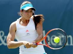 American teenager  Christina McHale, ranked 76th in the world, ousted the top-ranked Caroline Wozniacki in straight sets.