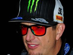 Ken Block looks on after the Rally Argentina event on May 26.