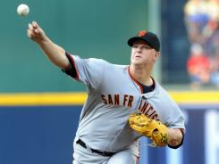 Matt Cain shut down the Braves over eight innings and drove in a run at the plate to help his own cause.