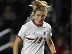 Boston College soccer player Kristie Mewis