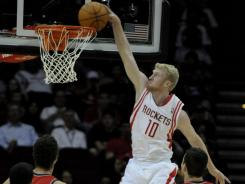 As the NBA lockout continues, the Rockets' Chase Budinger will take his leaping skills back to the volleyball floor.
