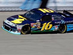 Greg Biffle won the pole position for Sunday's Pure Michigan 400; Roush Fenway teammate Matt Kenseth will start second.