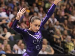 Jordyn Wieber competes on the floor exercise at the U.S. gymnastics championships on Saturday in St. Paul.