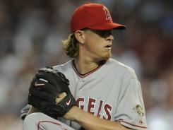 Jered Weaver leads the American League with a 2.10 ERA.